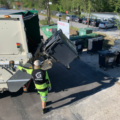 Affald og genbrug på Musicon